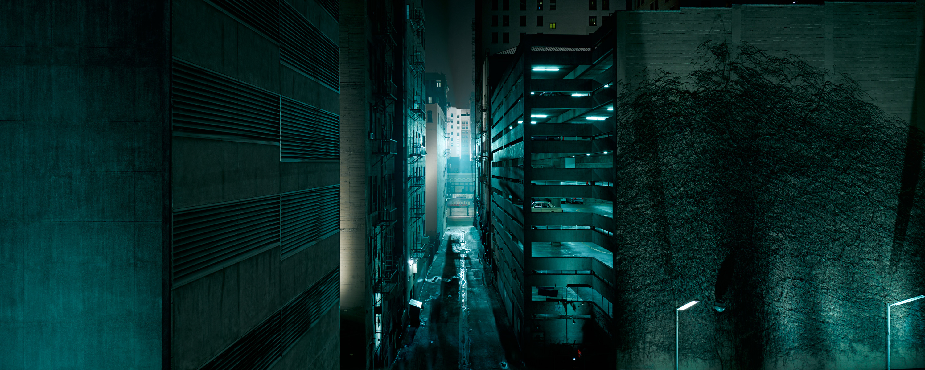 Downtown Los Angeles Alley view for Live Free or Die Hard by Richard Lund