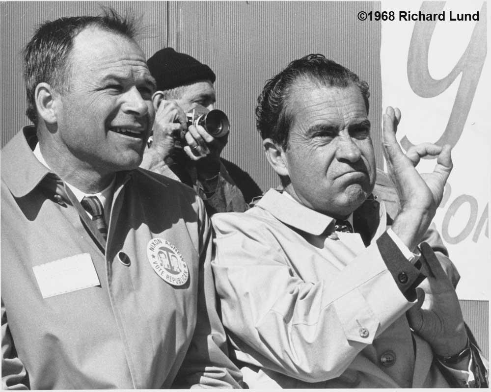 Richard Lund, Richard Nixon, A-okay, Rochester Minnesota, 1968