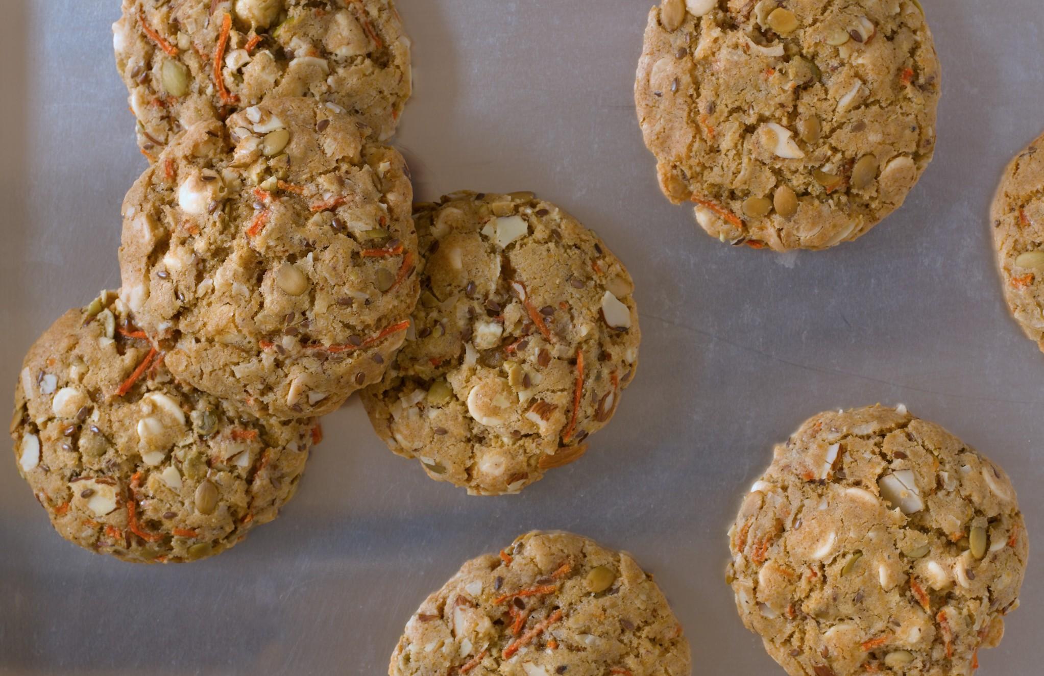 Good habit cookies, Richard Lund, cookies on cookie sheet