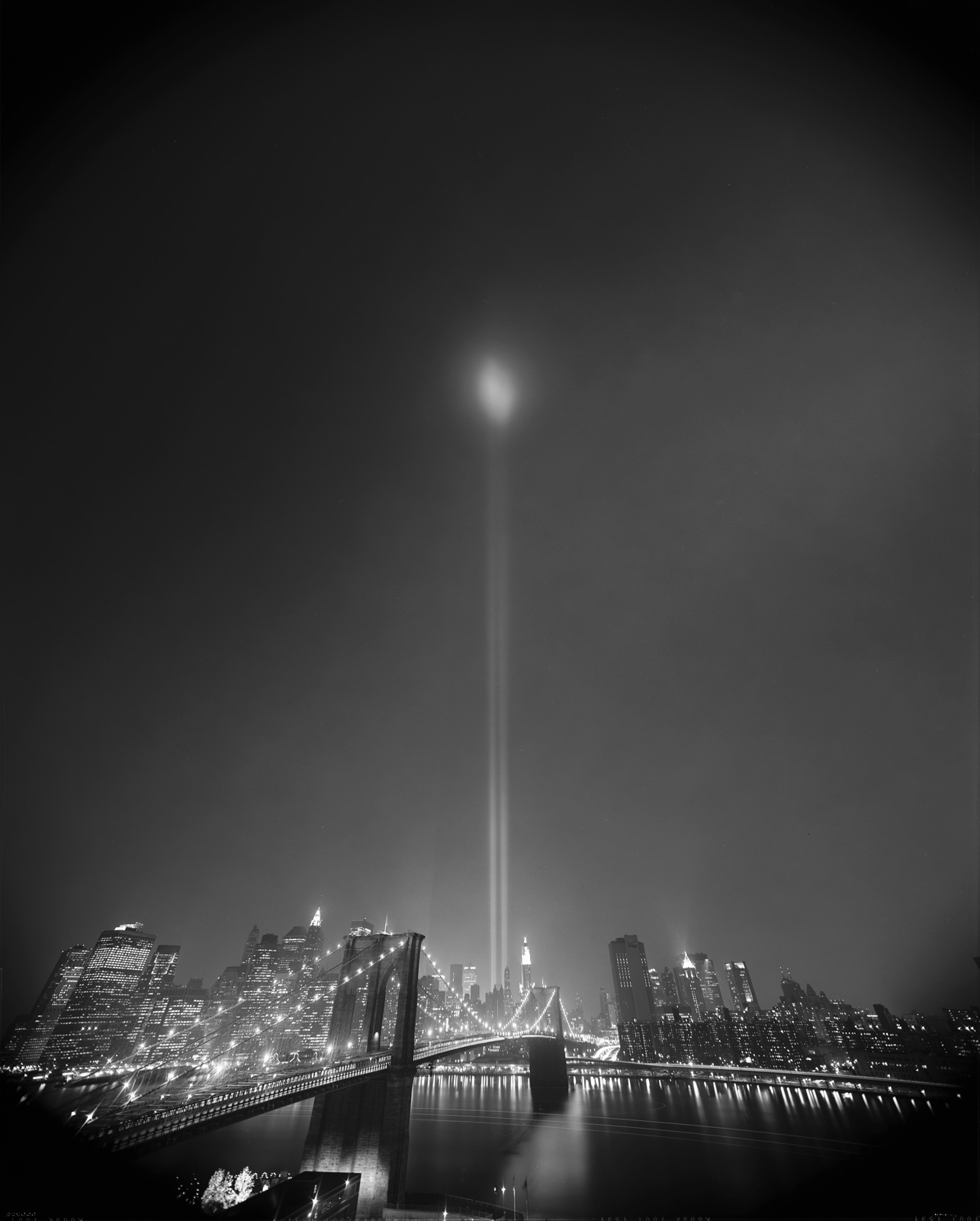Beacon of light, Ground Zero Memorial, Anger Management, Richard Lund, DUMBO