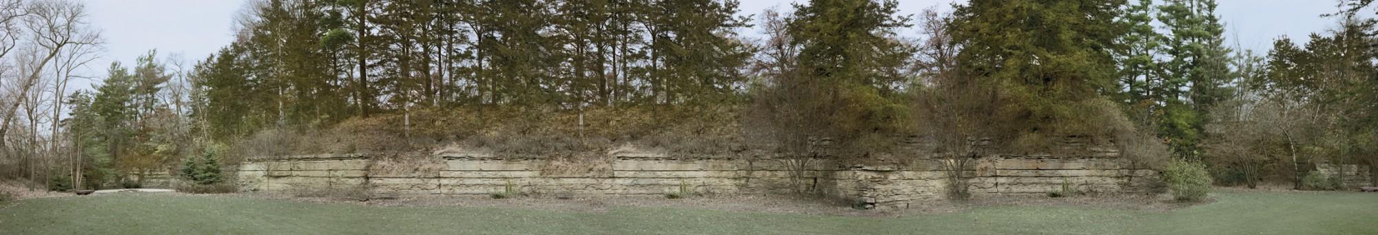 Autumn wall in Minnesota, Richard Lund, translite,