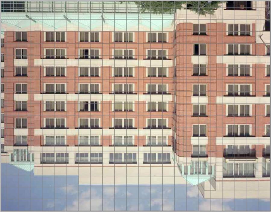 View camera ground glass, Richard Lund, Building upside down