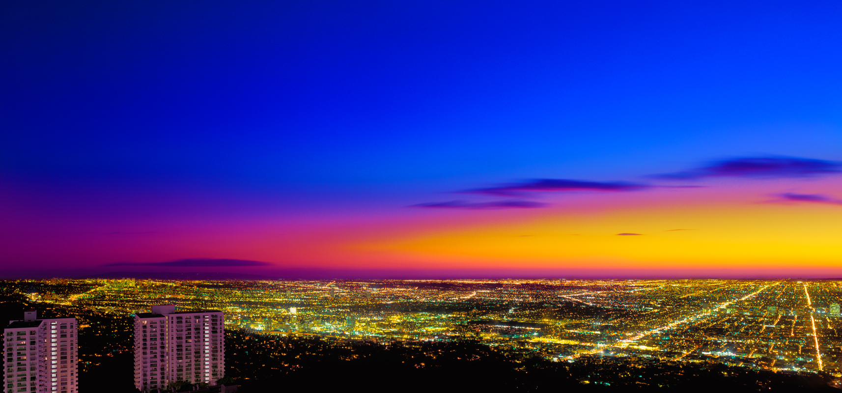 Hollywood Hills view of Los Angeles, Richard Lund, Translite Los Angeles,