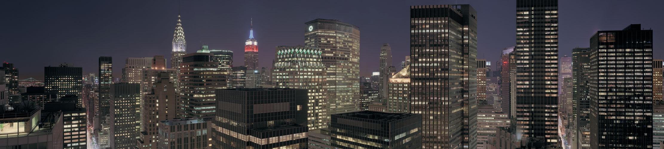 Manhattan Midtown at night, Maid in Manhattan translite, Richard Lund translite