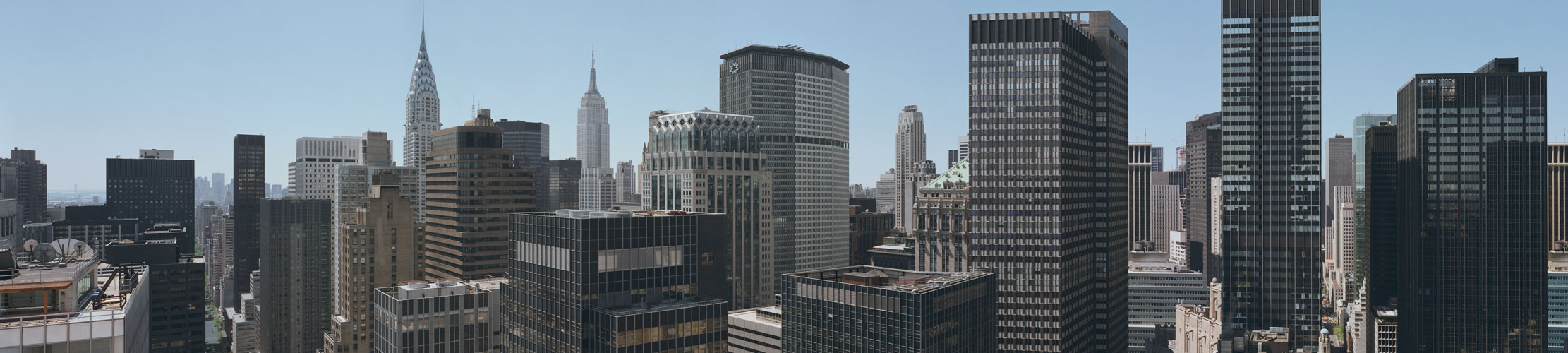 Maid in Manhattan translite, Richard Lund translite photographer, Midtown Manhattan Skyline